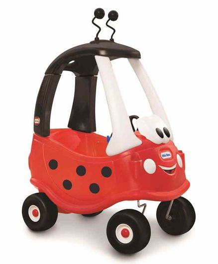 Little Tikes Cozy Coupe Ladybird Manual Push Ride on - Red