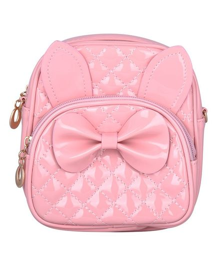 Asthetika Bow Detailed Backpack - Baby Pink