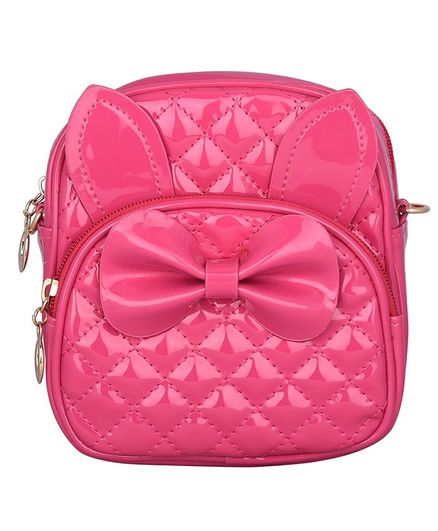Asthetika Bow Detailed Backpack - Dark Pink