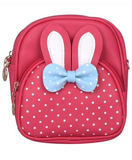 Asthetika Polka Dot Print Backpack - Pink
