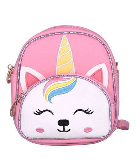Asthetika Unicorn Patch Backpack - Baby Pink