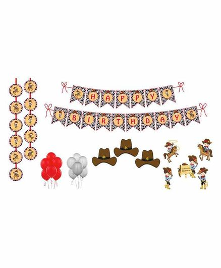 Untumble Cowboy Theme Birthday Kit - Pack of 58
