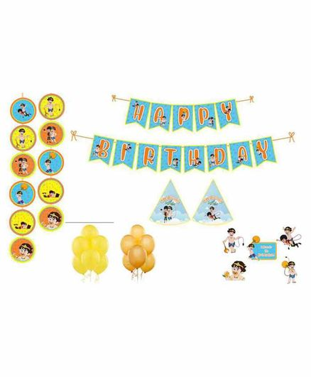 Untumble Cartoon Theme Birthday Kit - Pack of 58