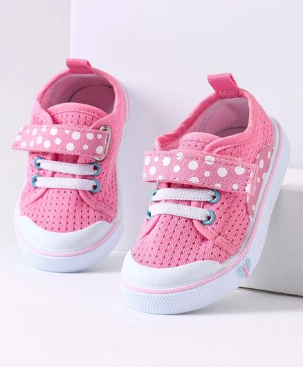 Cute Walk by Babyhug Casual Shoes Polka Dot Print - Pink