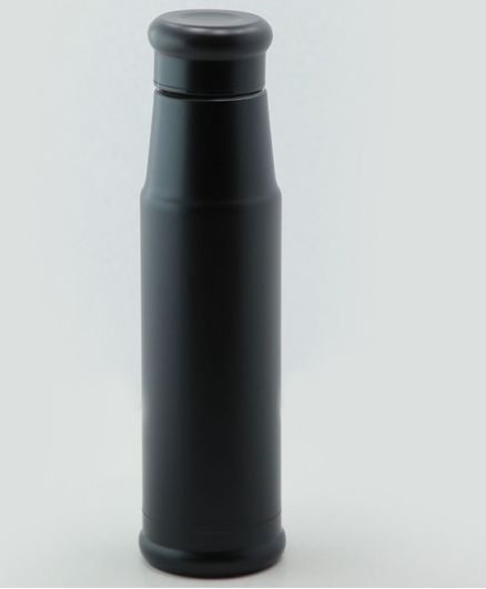 PIix Double Wall Insulated Stainless Steel Thermos Water Bottle Black - 500 ml