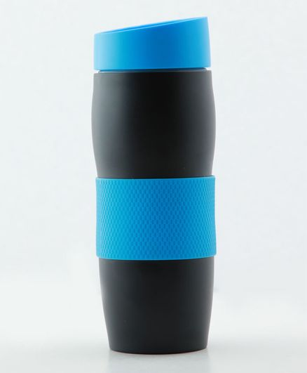 PIX Stainless Steel Mug with Lid Blue Black - 400 ml