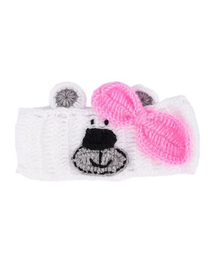 My Meo Bear Ear Warmer Cap - White
