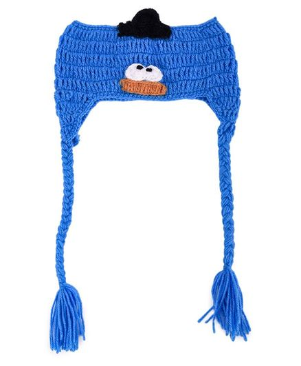 My Meo Pompom Ear Warmer Cap - Blue