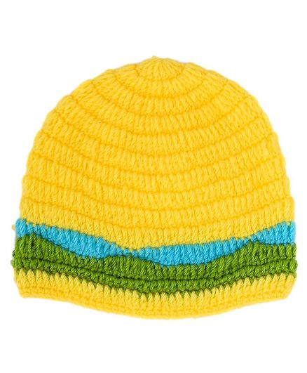 My Meo Contrast Stripe Hem Cap - Yellow