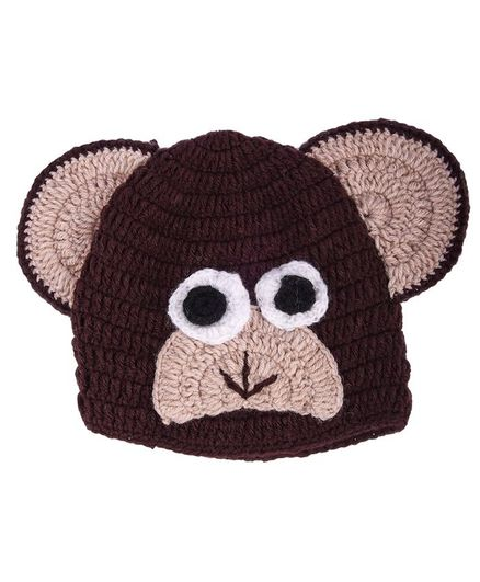 My Meo Monkey Design Cap - Brown
