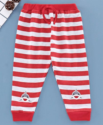 Mom's Love Full Length Striped Lounge Pant- Red