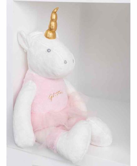 Mi Arcus Uniglow Mummy Unicorn Soft Toy White Pink - Height 55 cm