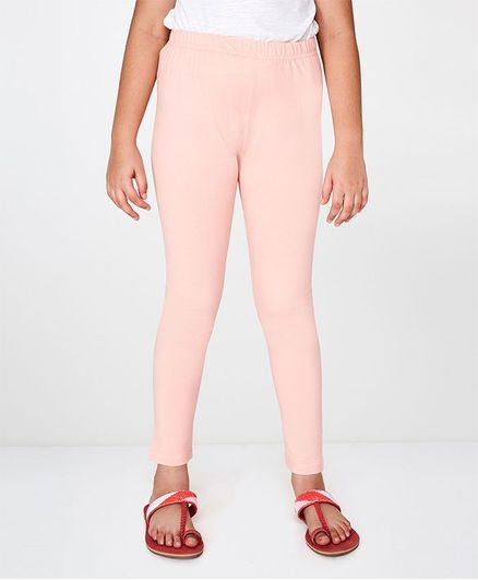 Global Desi Girl Solid Leggings - Pink