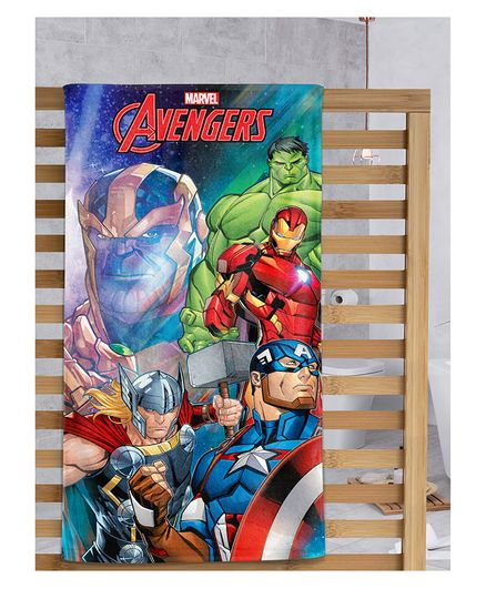 Sassoon Bath Towel Avengers Print - Orange