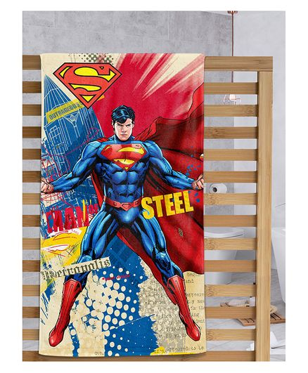 Sassoon Superman Printed Bath Towel with Gift Box - Multicolor