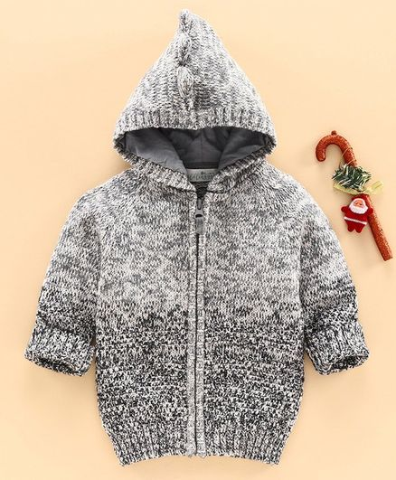 Wildlinggs Full Sleeves Hooded Sweater  - Grey