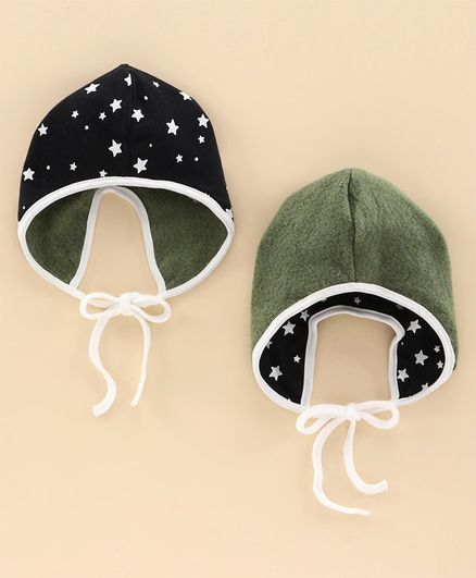 Ben Benny Reversible Winter Cap Navy & Green - Diameter 12 cm