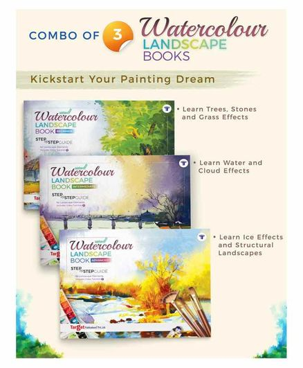 Target Publications Landscape Watercolour Painting Books Set of 3 - English
