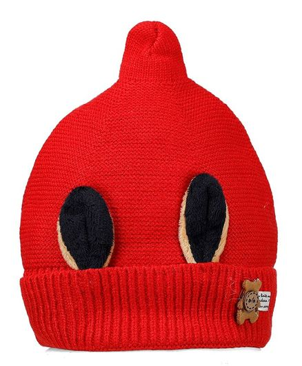 Tiekart Teddy Embellished Warm Cap - Red