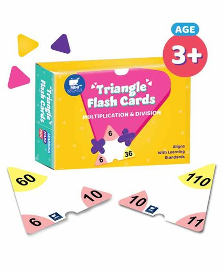 Miniwhale Triangular Multiplication & Division Flash Cards Pack of 42 - Multicolor