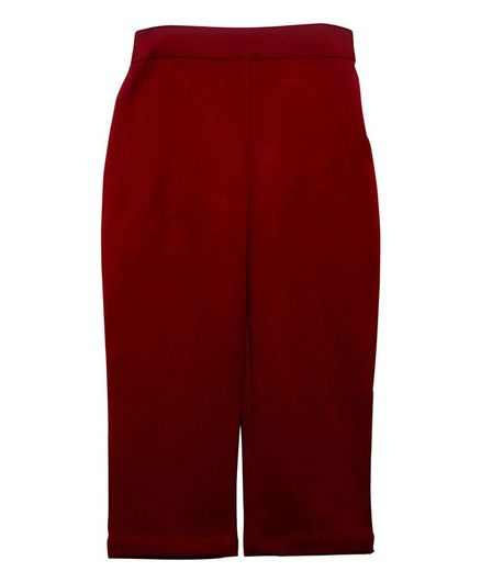 Mish Organic Solid Colour Full Length Pants - Maroon