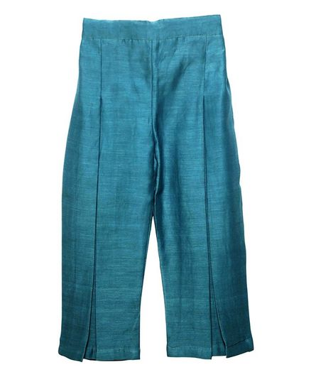 Mish Organic Full Length Solid Colour Pants - Blue
