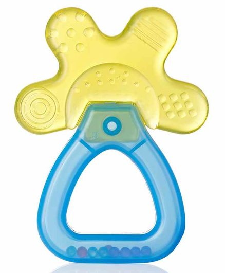Brush Baby Water Filled Silicone Teether - Yellow Blue