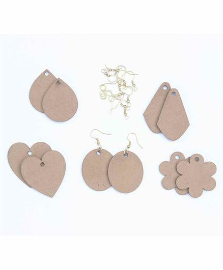 IVEI DIY Earrings Mixed Shapes Brown - 25 Pieces