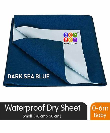BeyBee Waterproof Small Bed Protector Sheet - Blue