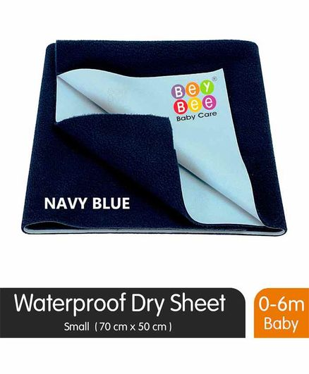 BeyBee Quickly Dry Waterproof Small Size  Bed Protector Sheet - Navy Blue