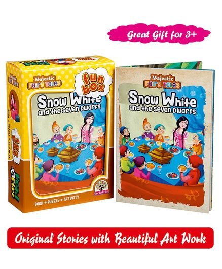 Majestic Books Snow White & Seven Dwarfs Fun Box - English