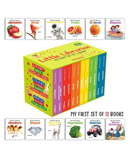Majestic Books My First Learning Board Books Set of 12 - English