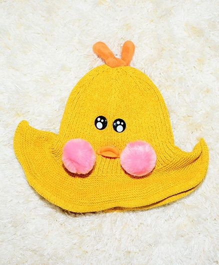 Tipy Tipy Tap Duck Rattle Hat - Yellow