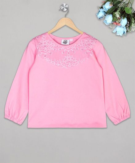 The Sandbox Clothing Co Printed Full Sleeves Top - Pink