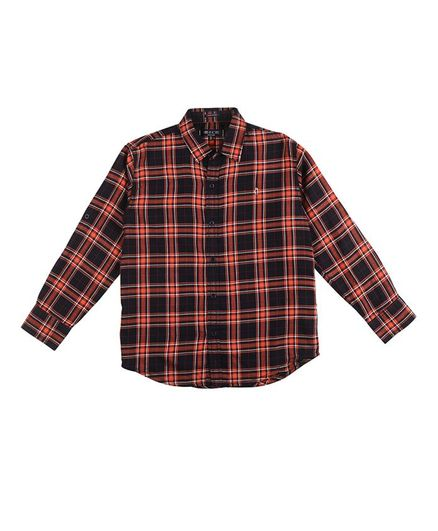 GINI & JONY Full Sleeves Checked Shirt - Brown
