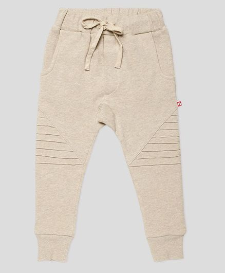 Nino Bambino Solid Colour Full Length Organic Cotton Joggers - Beige