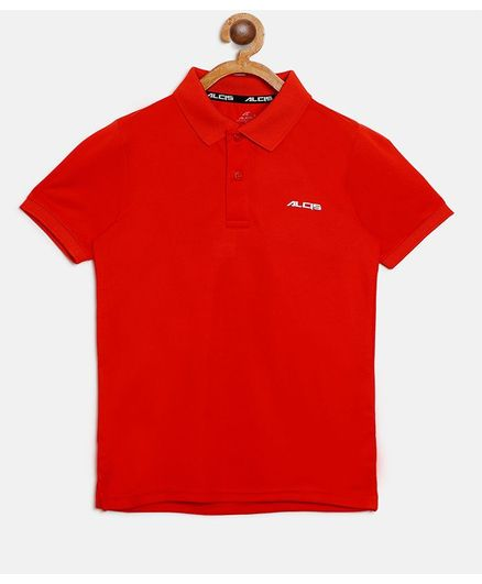 Alcis Half Sleeves Solid Polo Tee - Orange