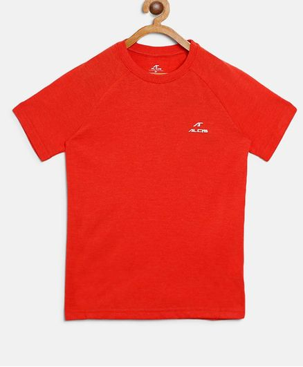 Alcis Solid Half Sleeves Tee - Orange