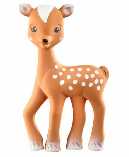 Sophie la Girafe Fanfan The Fawn Squeaky Rattle Teether - Brown