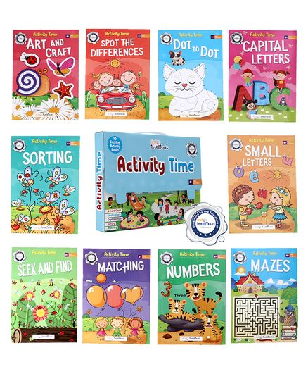 FirstCry Intellitots Preschool Activity Time Set of 10 Books - English