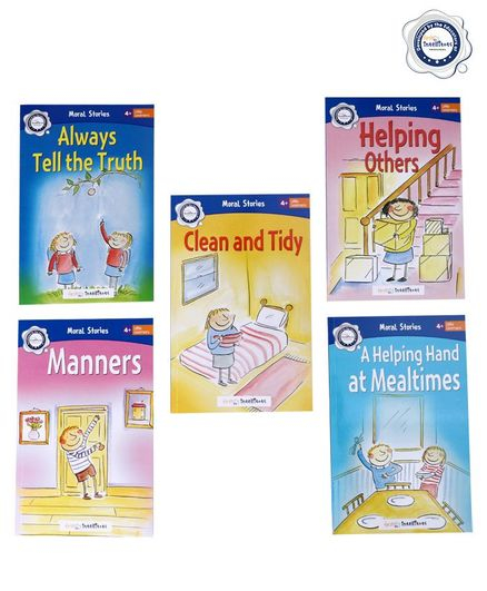FirstCry Intellitots Preschool Moral Stories Set of 5 - English
