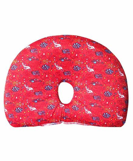 The White Willow Memory Foam Infant Baby Head Shaping Pillow for Preventing Head for Flat Head Syndrome Ideal for 0-12 Age - Red