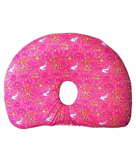 The White Willow Memory Foam Infant Baby Head Shaping Pillow for Preventing Head for Flat Head Syndrome Ideal for 0-12 Age - Pink
