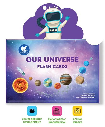 Miniwhale Our Universe Flash Cards - 32 Cards