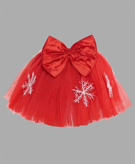 Pink Chick Christmas Tutu Skirt - Red