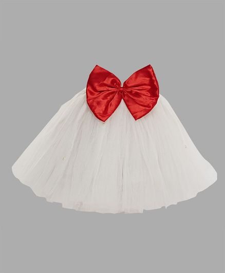 Pink Chick Christmas Tutu Skirt - White