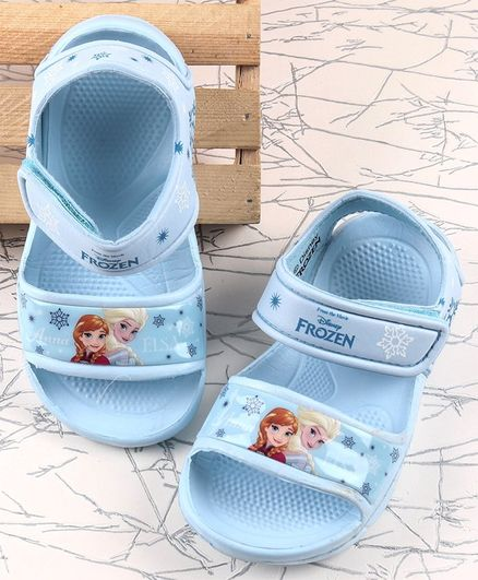 Disney Clogs Velcro Closure Frozen Print - Sky Blue