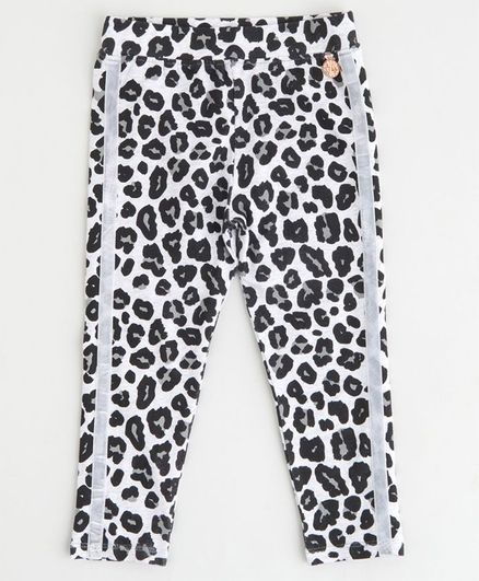 Angel & Rocket Leopard Print Leggings - Black