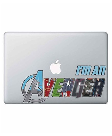 Macmerise Macbook Pro Retina 13@DQ@ I Am Avenger Decal - Multicolor
