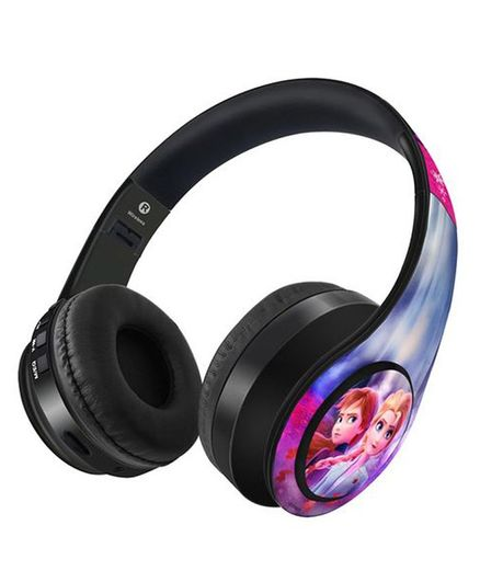 Macmerise Frozen Elsa Anna Wireless On Ear Bluetooth Headphones - Multicolor